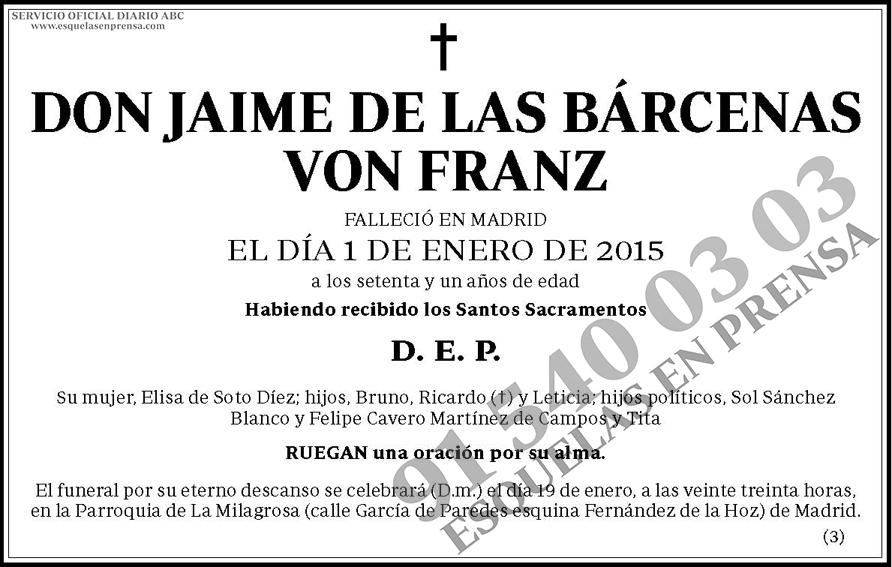 Jaime de las Bárcenas Von Franz
